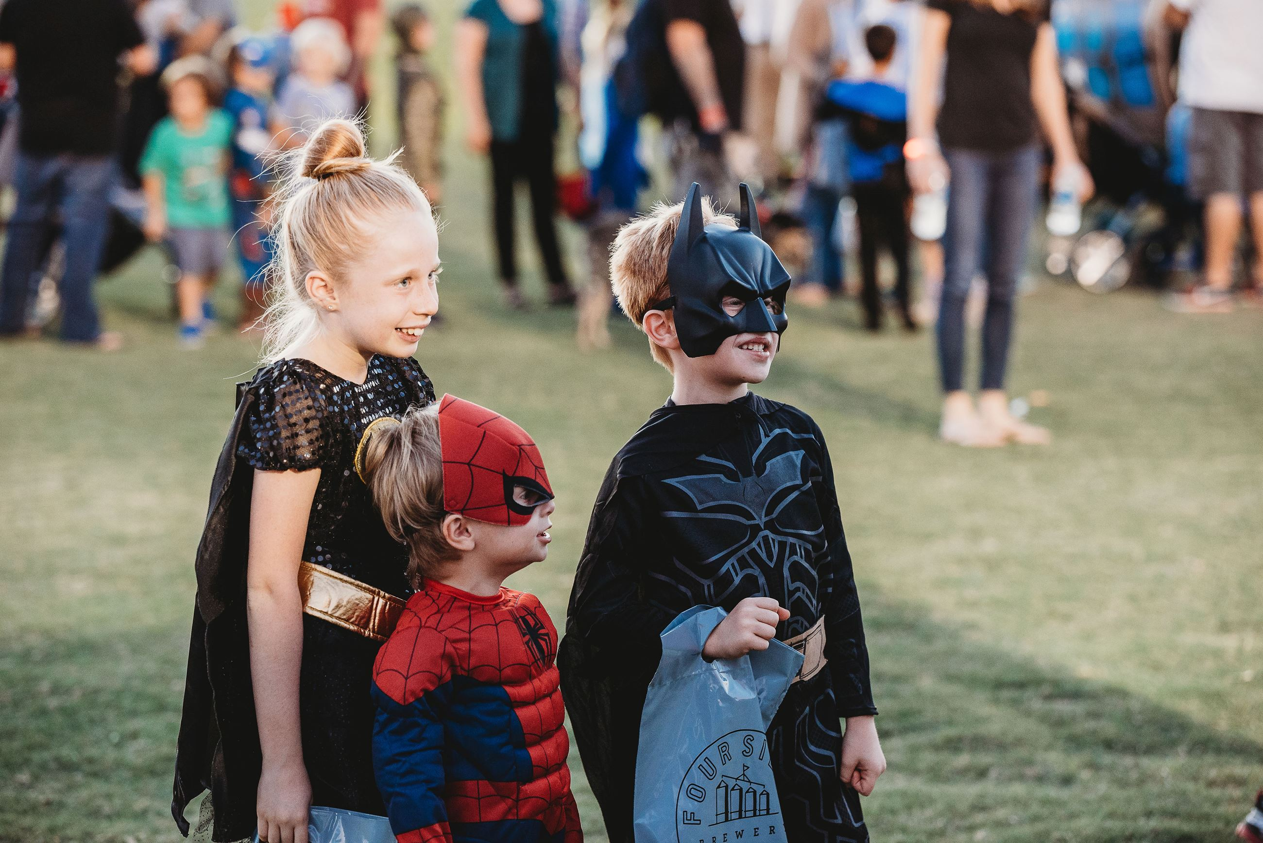 Group of Children Dressed as Super Heroes